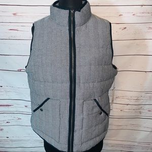 A New Day Black Herringbone Quilted Puffer Vest